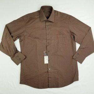 Brooks Brothers Sz 16 32/33 Chocolate Brown Shirt